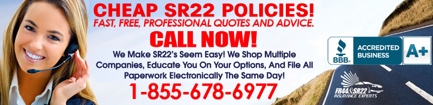 Cheap Indiana SR22 Insurance